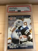 RARE 1990 Pro Set Football #685 Emmitt Smith Dallas Cowboys RC Rookie HOF PSA 7
