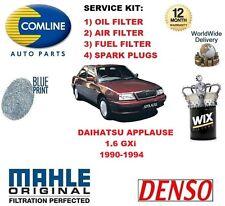 para Daihatsu Applause 1.6 1990-1994 FILTRO DE ACEITE AIRE COMBUSTIBLE + Bujías