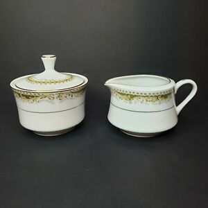Signature Collection Queen Anne Select Fine China Creamer & Sugar Set Japan