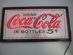 Coca-Cola LED Chasing Red Light Bar Sign Wall Decor Script Logo