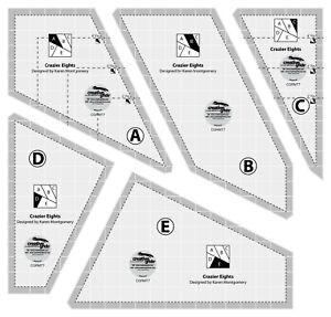 (US SELLER) Creative Grids Crazier Eights Template Quilt Ruler CGRMT7