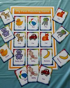 MY FIRST PICTURE & WORD MATCHING GAME TODDLER SPECIAL NEEDS/ PRE-SCHOOL/ EYFS