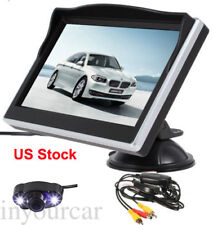 "Wireless Car Backup Camera Rearview System Night Vision +5"" TFT LCD Monitor Kit"