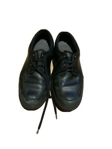 Boys Clarks Black Leather Shoes, Size 6G Eur 39.5