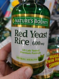Nature's Bounty Red Yeast Rice 600mg 250 Capsules Exp 09/24 Herbal Supplement