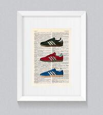Adidas Samba Originals Vintage Dictionary Book Print Wall Art