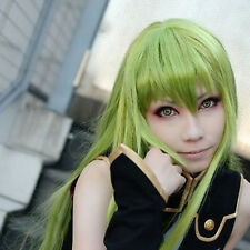 Code Geass CC Straight 80CM Long Christmas Light Green Cosplay Wig