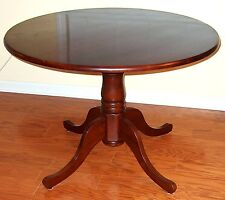 CHARMED TV SHOW PROPS HALLIWELL MANOR CHERRY FINISH ROUND PEDESTAL BASE TABLE