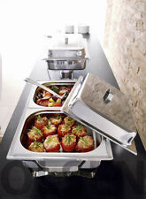 2x Chafing Dish Multi Plus Buffetwärmer Wärmeplatte Edelstahl 20 tlg.