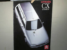 CATALOGUE CITROEN CX BREAK EVASION 09 1989