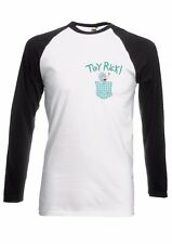 Tiny Rick and Morty Pocket Men Women Long Short Sleeve Baseball T Shirt 1916