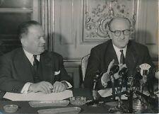 Guy Mollet - Robert Lacoste 1957 - Hommes Politiques Paris - PR 442