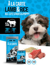 A La Carte Dry Dog Food 18kg Lamb & Rice All Life Stages & Puppy