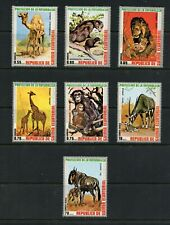 T253  Equatorial Guinea  1974  Protected fauna animals  7v.    MNH