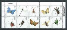 Gran Bretaña 2008 insectos bloque de 10 con títulos desmontado como nuevos, estampillada sin montar o nunca montada