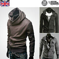 Mens Fleece Hoodie Zip Up Hoody Jacket Sweatshirt Hooded Zipper Top outerwear