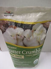 Chick Starter Feed - Organic/Non GMO/Crumbles - 5 Pound Bag - Manna Pro
