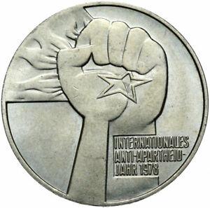 Gedenkmünze DDR - 5 Mark 1978 A - Anti-Apartheidjahr - Stempelglanz UNC