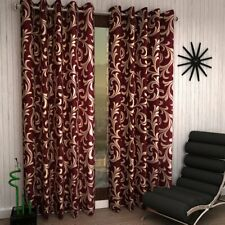 Handmade Eyelet Polyester Door Window Curtain Set Indian Traditional Home Décor