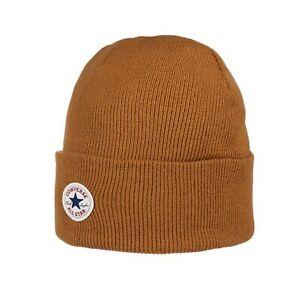 Converse All Star x Chuck Taylor Cuff Watchcap Knit Tan Beanie Hat CON588