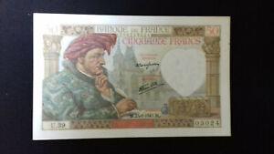Billet de 50 Francs - Jacques COEUR - Banque de FRANCE - 1941 - U.39 - NEUF
