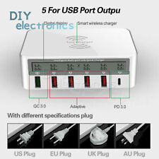 Universal 100W Usb Qc 3.0 Type C Pd 3.0 Fast Charger Qi Charger Station Us