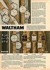 1962 PAPER AD 3 PG Waltham Wrist Watch Kelvin Ultra Thin Gladstone Rototron 100
