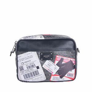 RRP€340 MOSCHINO COUTURE ! Clutch Bag Glued Mail Labels Logo Made in Italy
