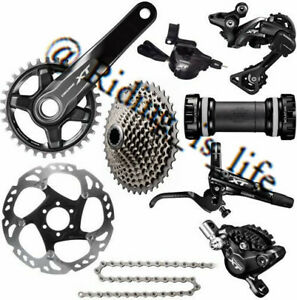 New SHIMANO XT M8000 1x11 Speed Complete MTB Groupset 11-40T/42T/46T,170MM/175MM