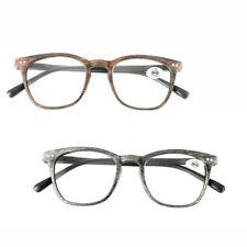 Retro Reading Glasses Men Wood Grain Eyeglasses Eye Reader +1.0~+3.5 Strength