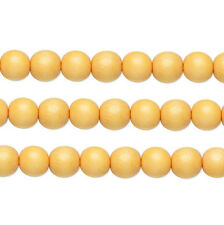 Wood Round Beads Light Orange 8mm 16 Inch Strand