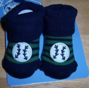 New Gerber Bootie Socks, Baby Shower, Sports, Baseball, 0-6 Months