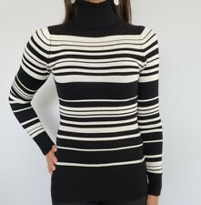 NWT Guess Turtleneck sweater black striped Long Sleeve womens Size XS small 2 4