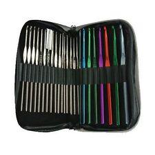 BOYE Crochet Master ~ Steel + Aluminum Crochet BONUS Hook Set ~ 24 hooks + CASE
