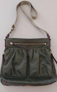 MZ Wallace Green Nylon Crossbody Handbag With Pouch
