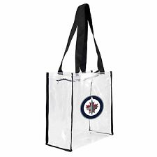 NHL Winnipeg Jets Square Stadium Tote, 11.5 x 5.5 x 11.5-Inch, Clear