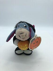 Disney Eeyore Halloween Wind-Up RETIRED RARE NWT Winnie The Pooh Toy Plush