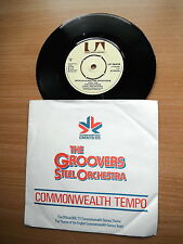 "THE GROOVERS STEEL ORCHESTRA COMMONWEALTH TEMPO RARE 7"" EDMONTON 1978 GAMES EX"