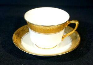 Royal Worcester Gold Encrusted C-1393 - Demitasse And Saucer