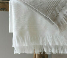 Le Jacquard Francais - Handtuch Hera Blanc weiß 50 x 100 - waffelpikee Baumwolle