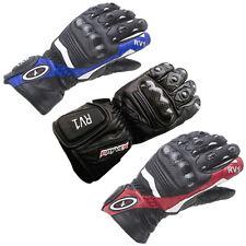 Rayven RV1 Cowhide Leather Motorbike Motorcycle Gloves Carbon Knuckle Waterproof