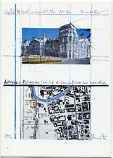 BERLIN Christo verhüllter Reichstag wrapped Skizze West- u. Südseite 1994