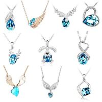 18K White & Gold Filled Made With Swarovski Crystal 10 Options Necklace