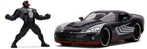 "Jada Toys Marvel 1:24 Dodge Viper Die-cast Car with 2.75"" Venom Figure"