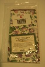 LONGABERGER LINER - NAPKINS SWEET PEA  2 PACK 26808 Brand New