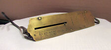 Vintage Morton and Bremner New York hanging agriculture scale Brass Face 24 lbs