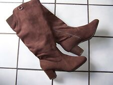 "AVON Cushion Walk Boots~Brown~Size 8~Fit large Calves~16"" Side zip~2 1/2"" Heel"