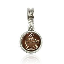 Coffee Cup Euro European Italian Style Bracelet Bead Charm