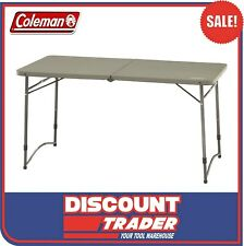 Coleman 4 Foot Fold In Half Portable Picnic, Camping & Fishing Table - 1377562