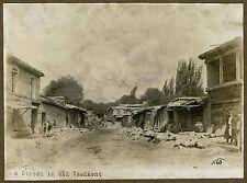 IMPERIAL RUSSIA, UZBEKISTAN - STREET IN OLD TASHKENT & ORIGINAL ca 1900's PHOTO